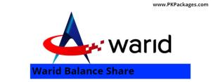 Warid Balance Share