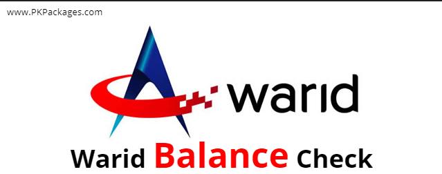 warid balance check