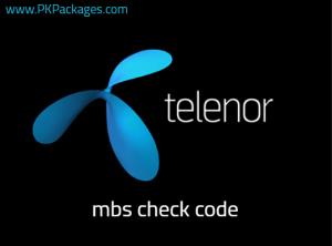 telenor mbs check code