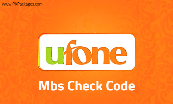 ufone mbs check code
