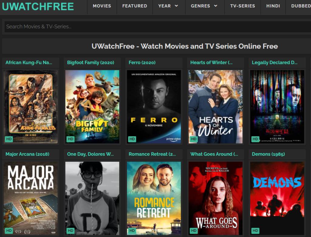 UwatchFree Website