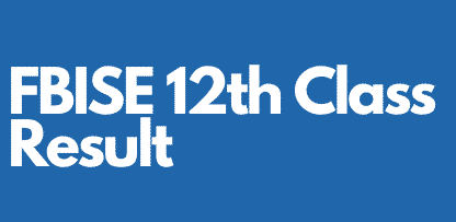 federal board 12th class result 2021